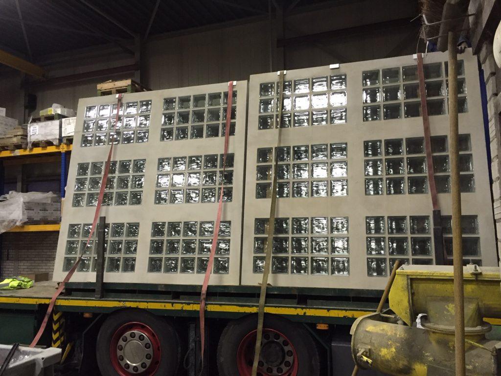 precast panels glassblock