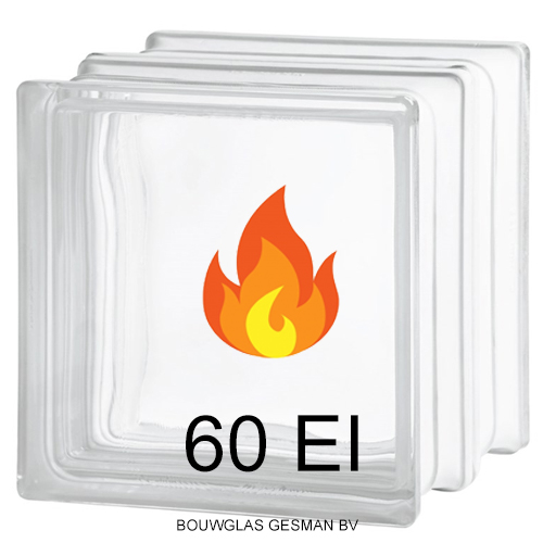 60min brandwerende glasblokken 60ei