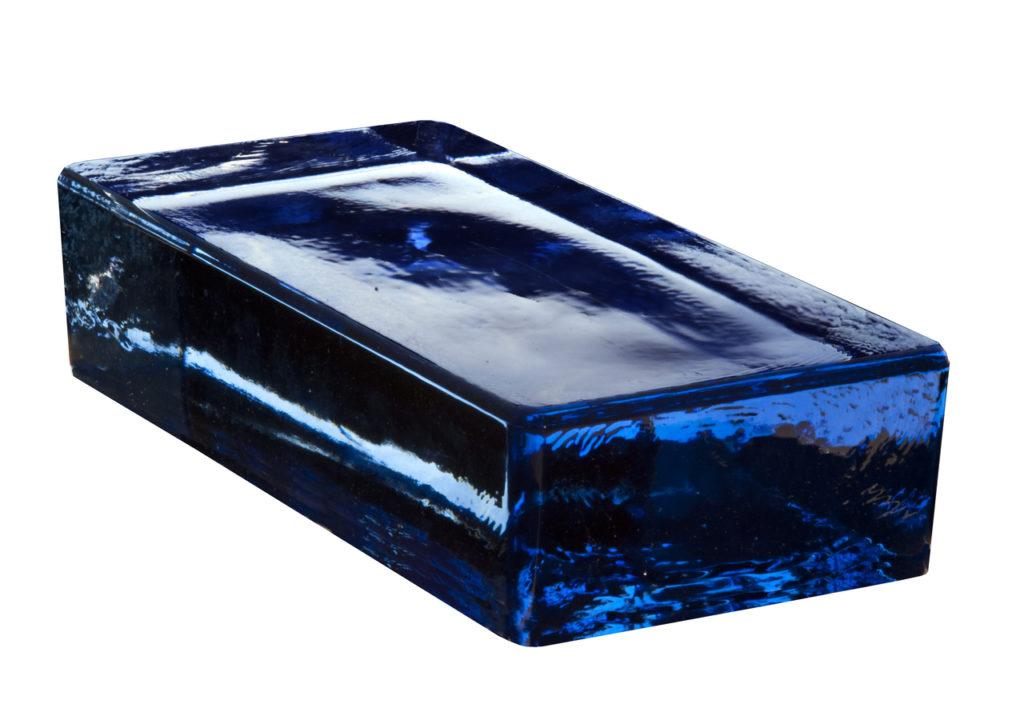 Vetropieno massief glasblok blauw