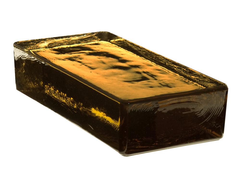 Vetropieno massief glasblok bruin